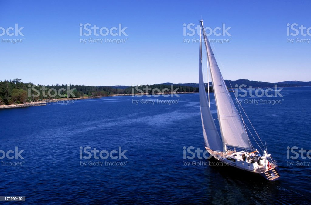 aerial sailboat sailing royalty-free stock photo