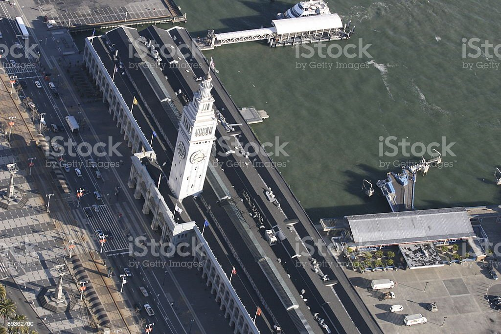 Aerial San Francisco Ferry Building stock photo
