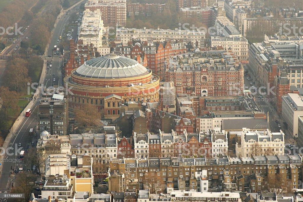 Aerial Shot of Albert Hall stock photo