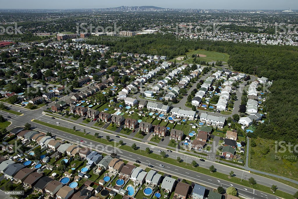 Aerial Shot of Homes royalty-free stock photo