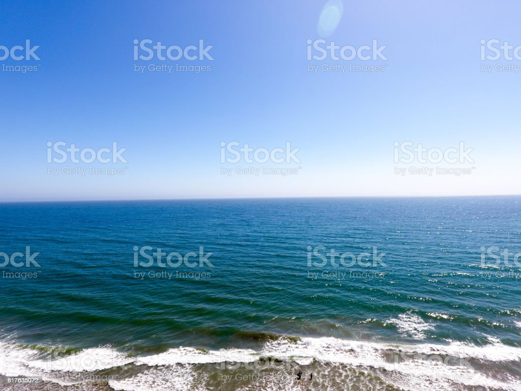 Aerial shot of Seascape Beach California stock photo