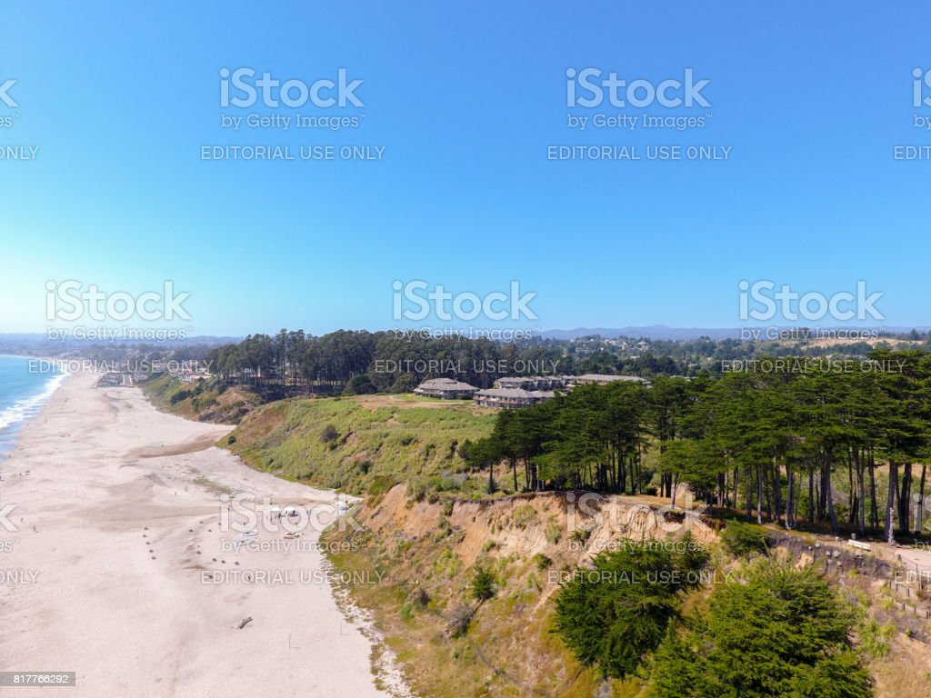 Aerial shot of Seascape Beach resort California stock photo
