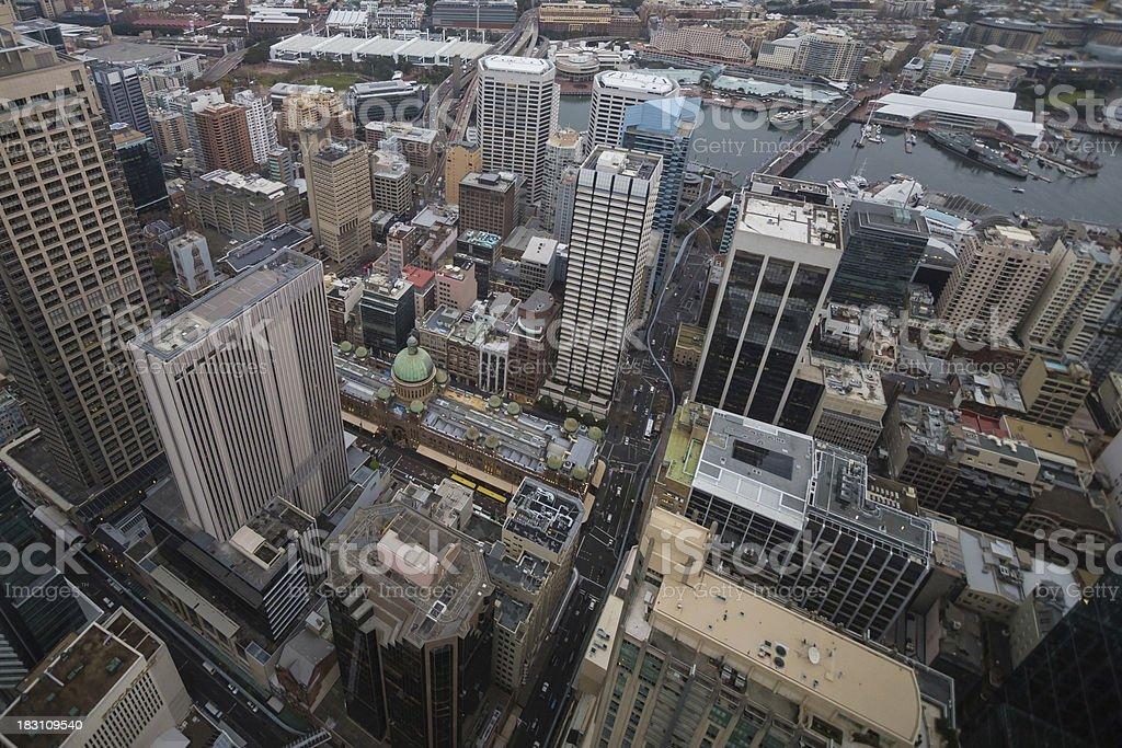 Aerial shot of Sydney, Australia royalty-free stock photo