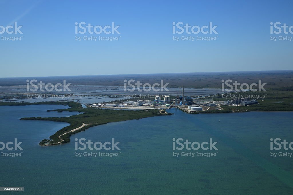 Aerial shot of Turkey Point stock photo