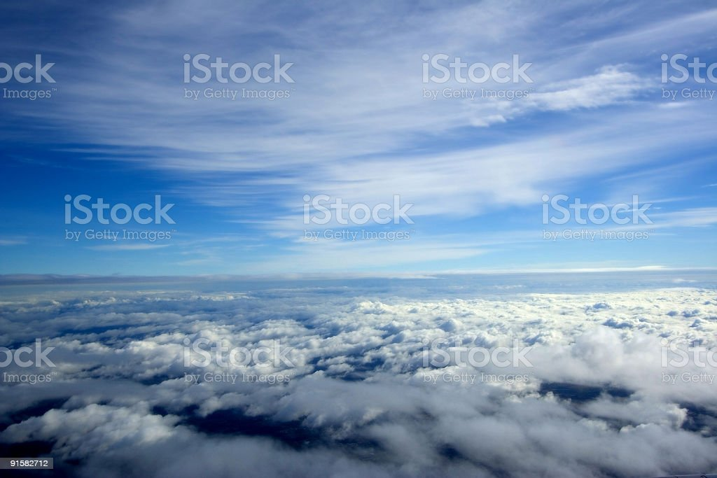 Aerial sky view from airplane royalty-free stock photo