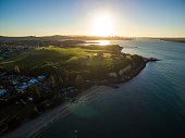 Aerial Sunset in Mission Bay