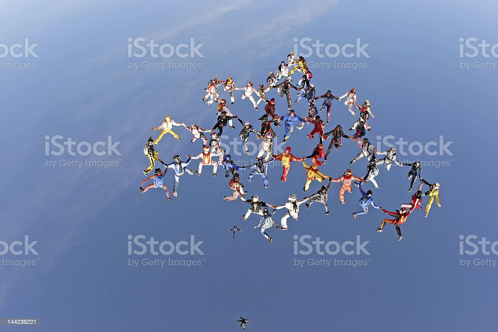 Aerial Team Work stock photo