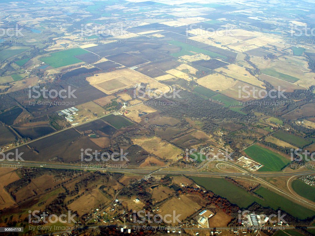 Aerial Texas - airplane view royalty-free stock photo