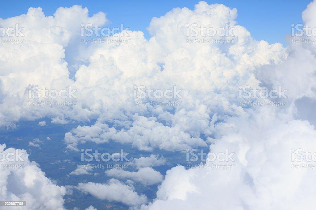 антенна вид сверху из воздушных плоскости Кучевое облако и Облачный пейзаж Стоковые фото Стоковая фотография