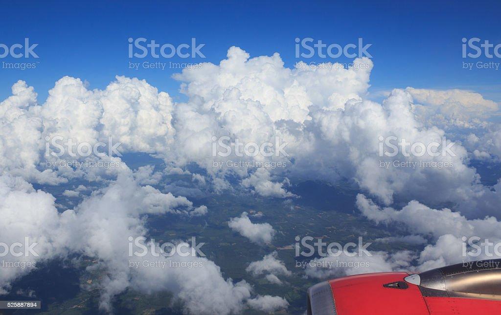 антенна вид сверху из воздушных плоскости см. зеленом поле сельских районах Стоковые фото Стоковая фотография