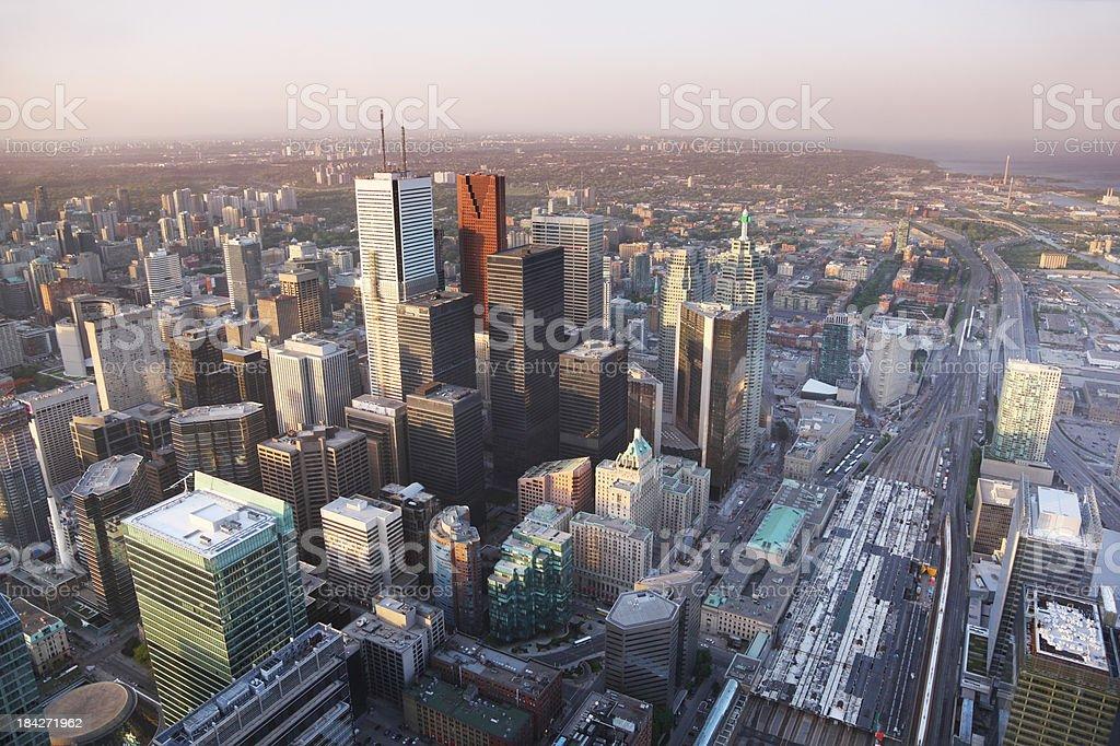 Aerial Toronto Cityscape stock photo