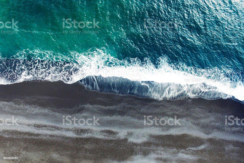Aerial tracking shot stock photo