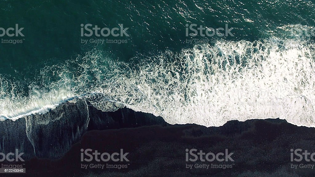 Aerial tracking shot stock photo