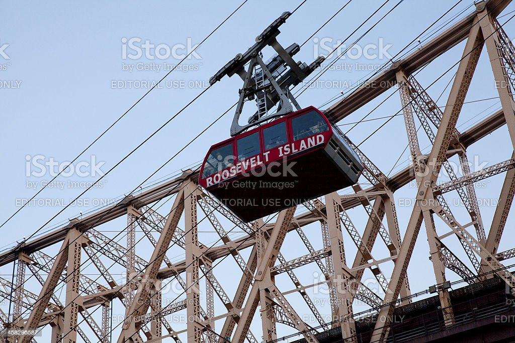 Aerial Tramway from Roosevel Island to Manhattan stock photo