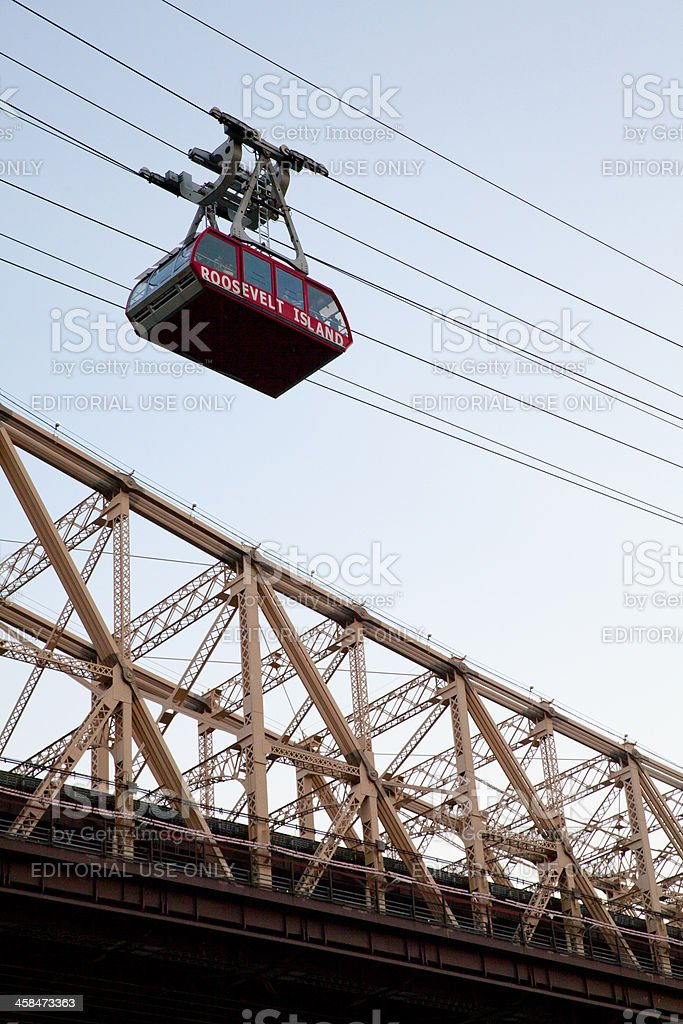 Aerial Tramway from Roosevel Island to Manhattan royalty-free stock photo