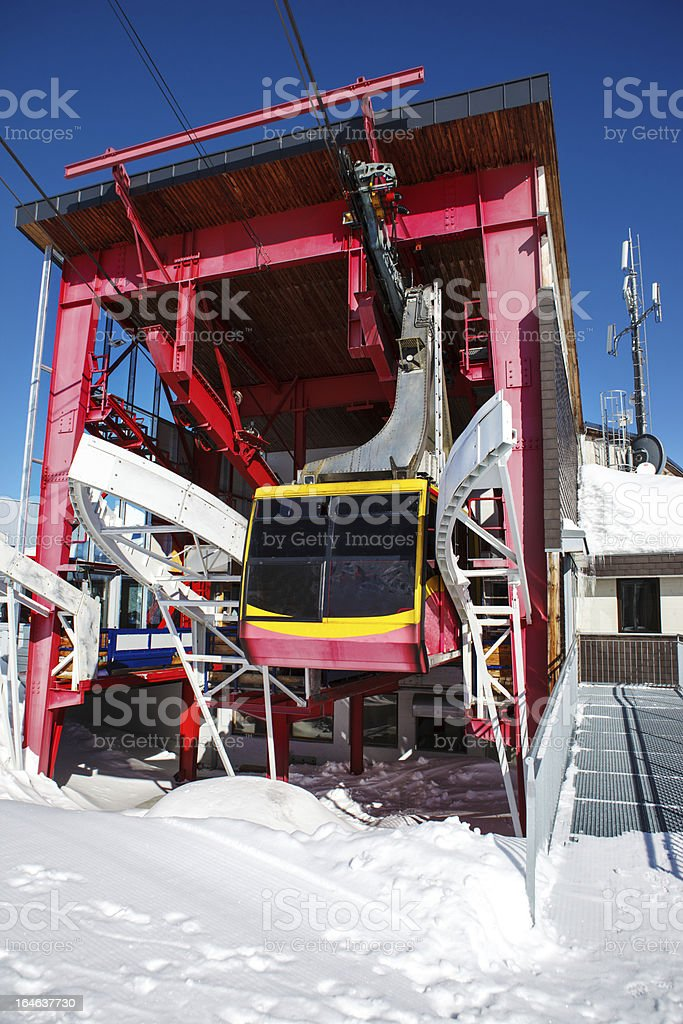 Aerial tramway royalty-free stock photo