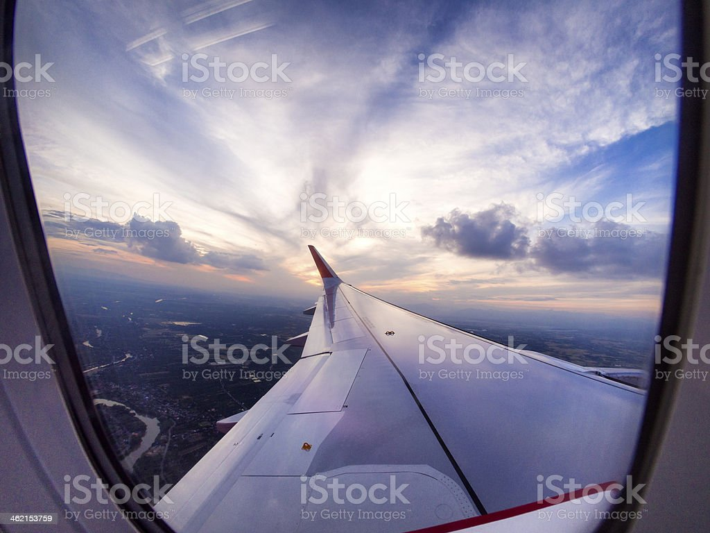 Aerial travel time royalty-free stock photo
