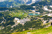 Aerial veiw of Rila Lakes hut, Bulgaria