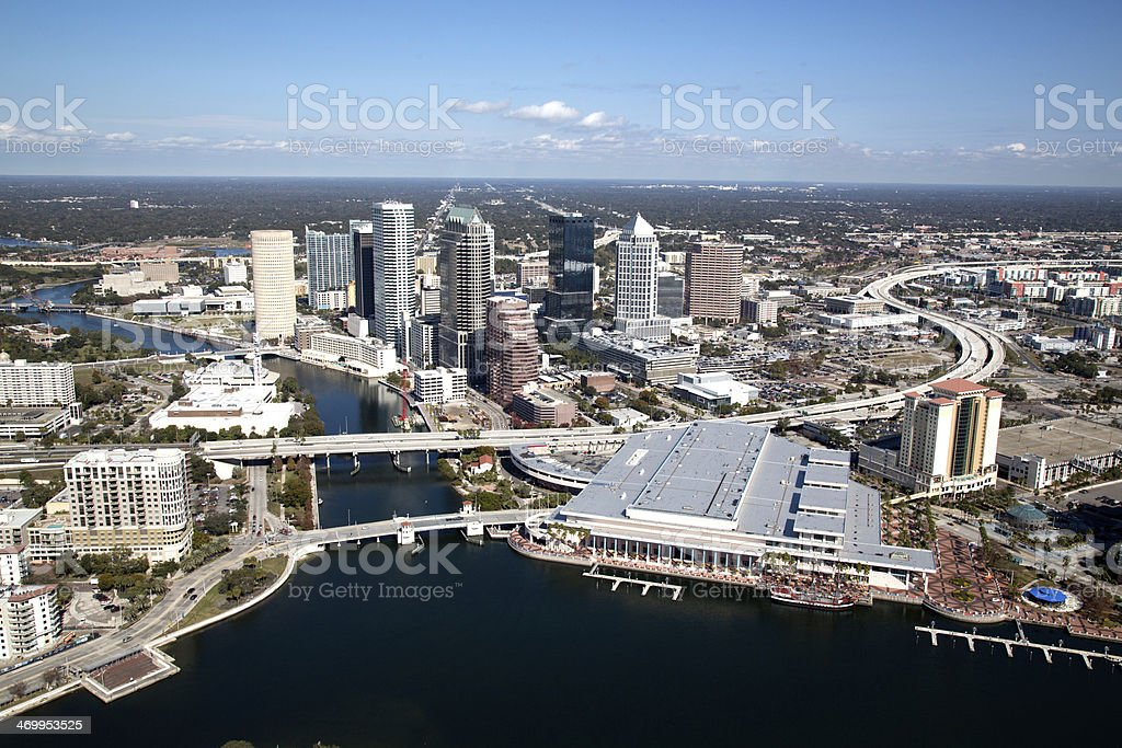 Aerial Veiw of Tampa stock photo