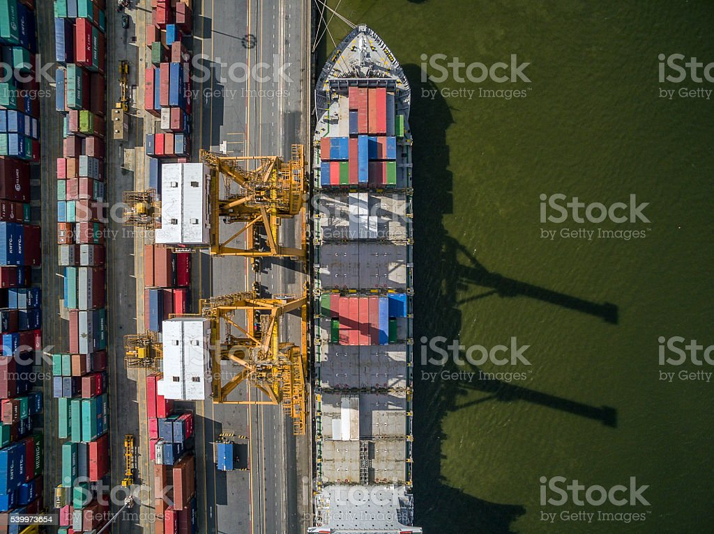 Aerial View Above the Dockyard stock photo