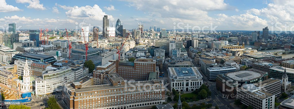 Aerial view across London royalty-free stock photo