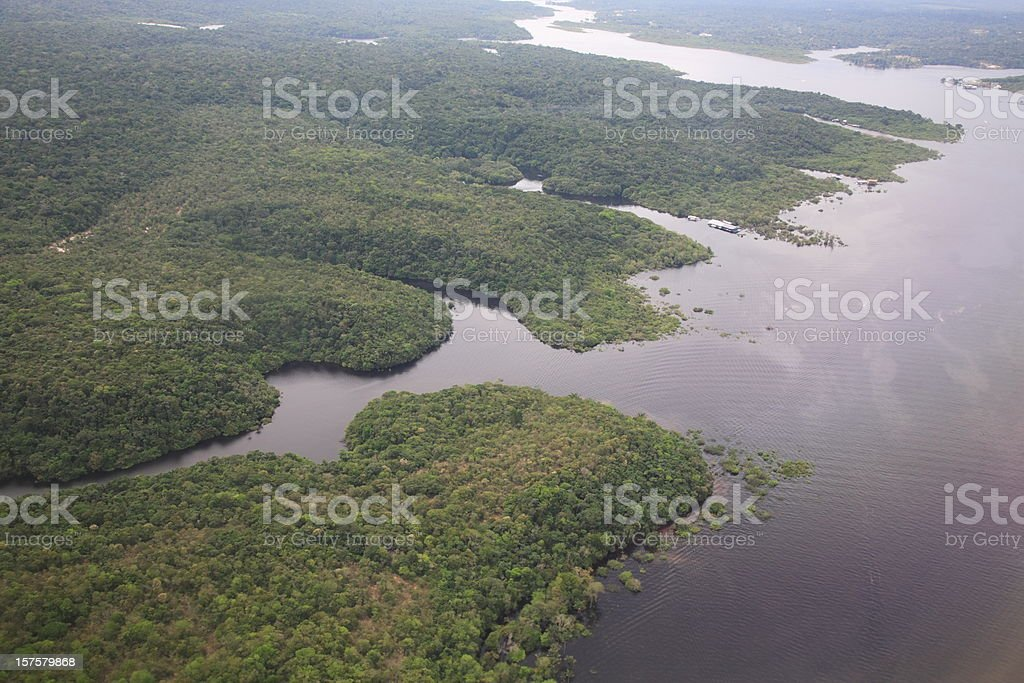 Aerial view amazon rainforest, Brazil royalty-free stock photo