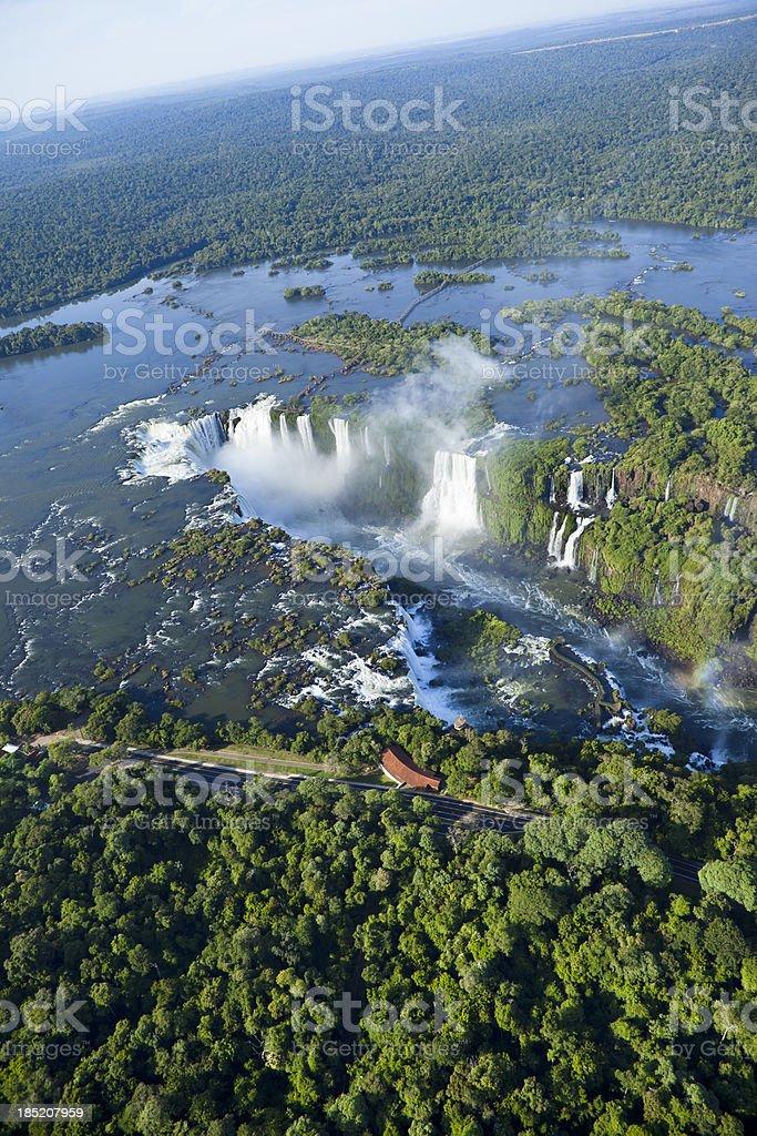 Aerial view Argentina Iguazu Waterfalls Garganta del Diablo royalty-free stock photo