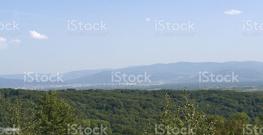 aerial view around Liliental royalty-free stock photo