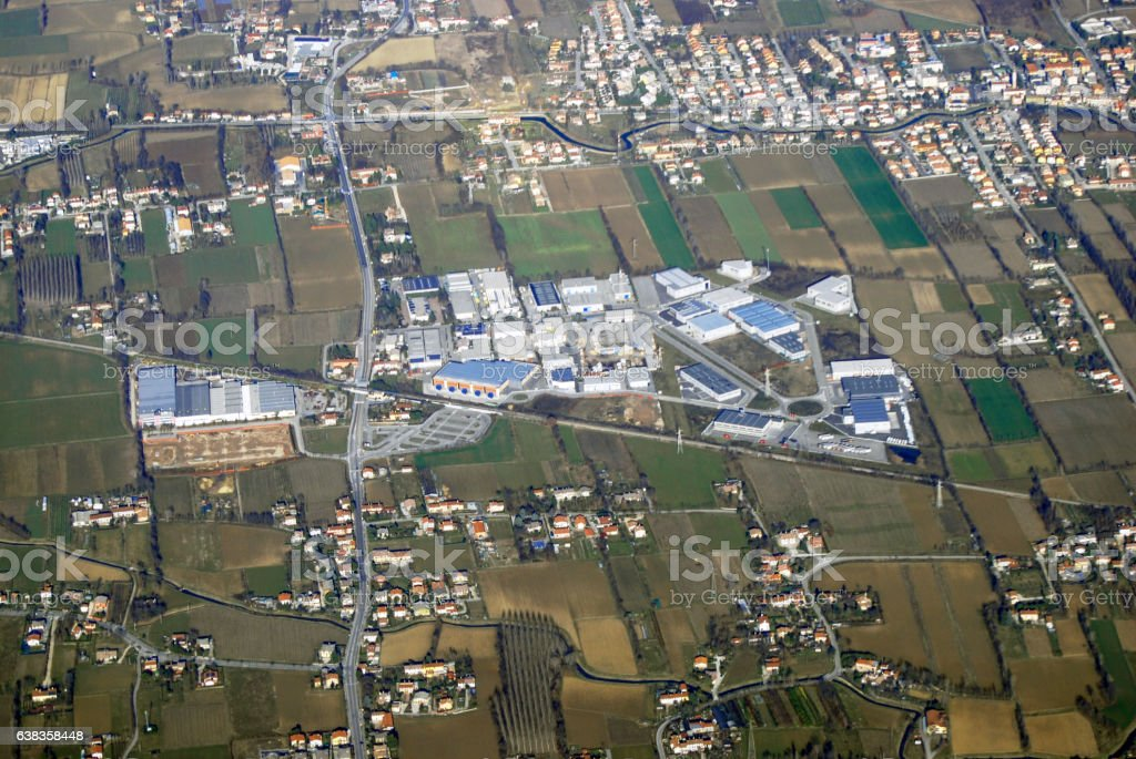 Aerial view at Treviso stock photo