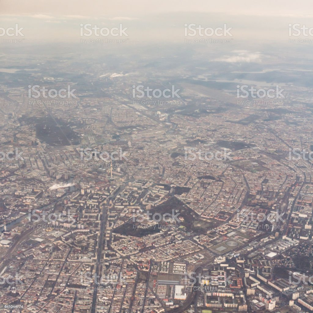 Aerial view Berlin stock photo