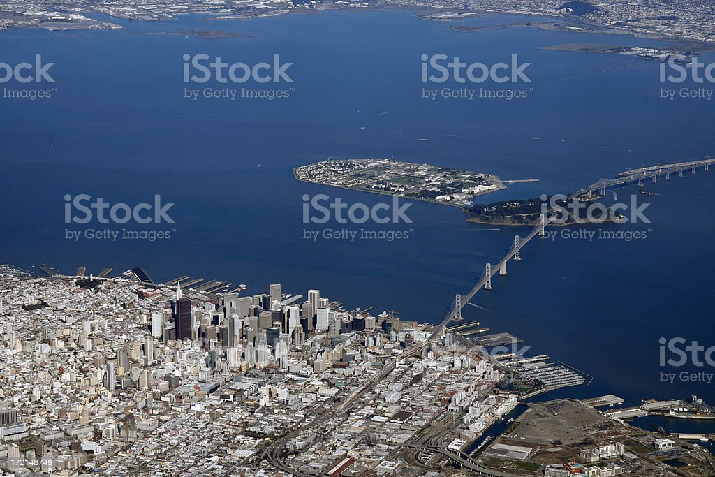 Aerial View - City of San Francisco from Sky royalty-free stock photo