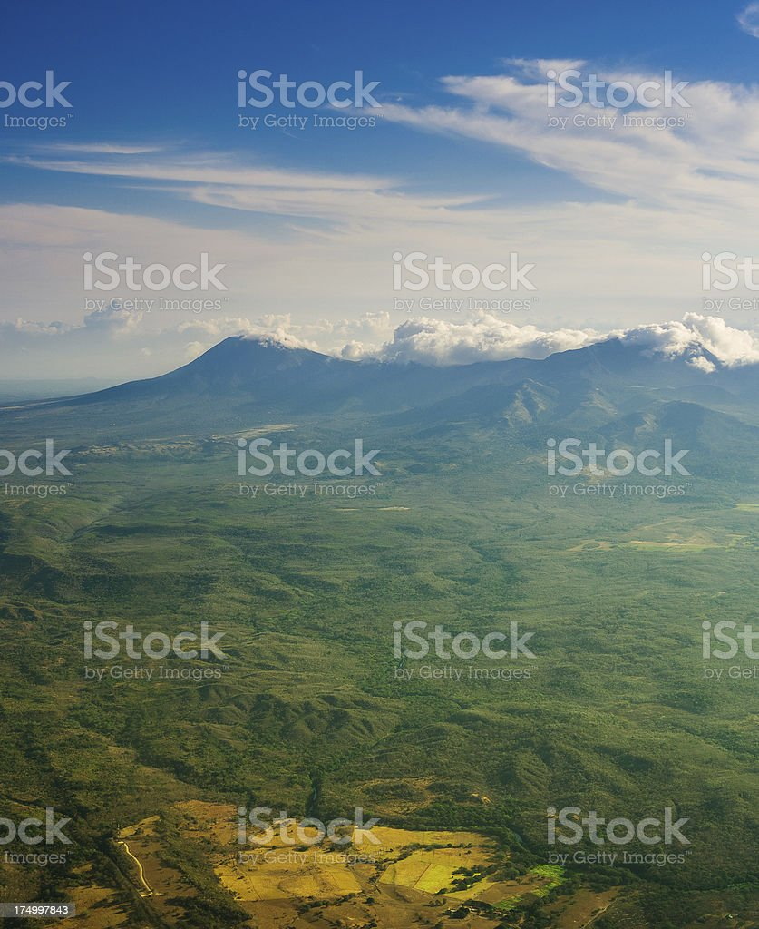 aerial view costa rica royalty-free stock photo