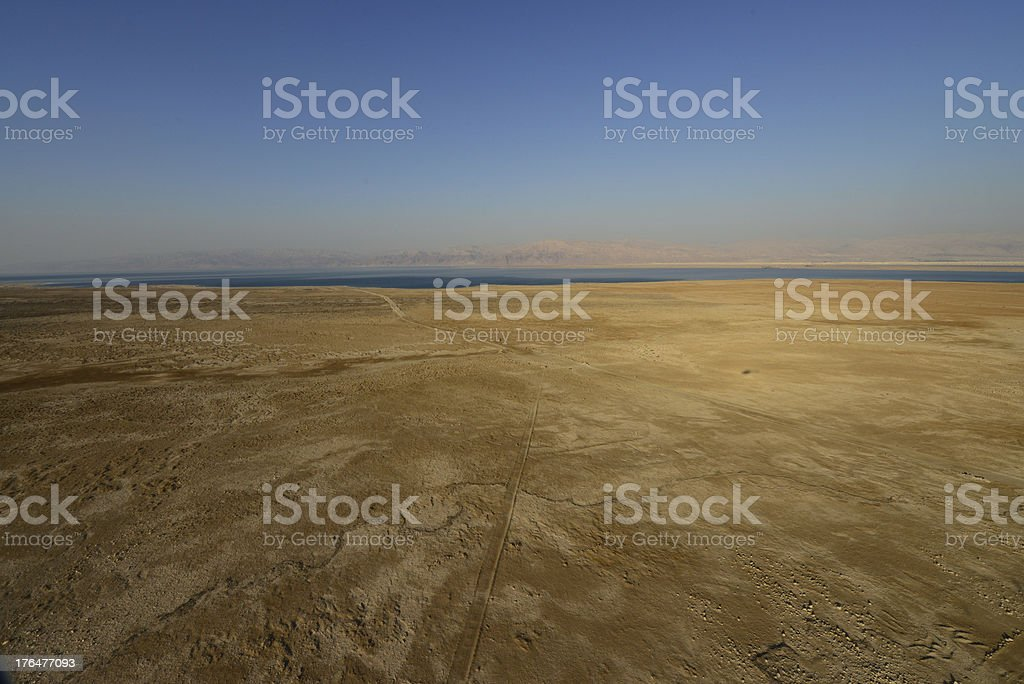 Aerial view desert royalty-free stock photo