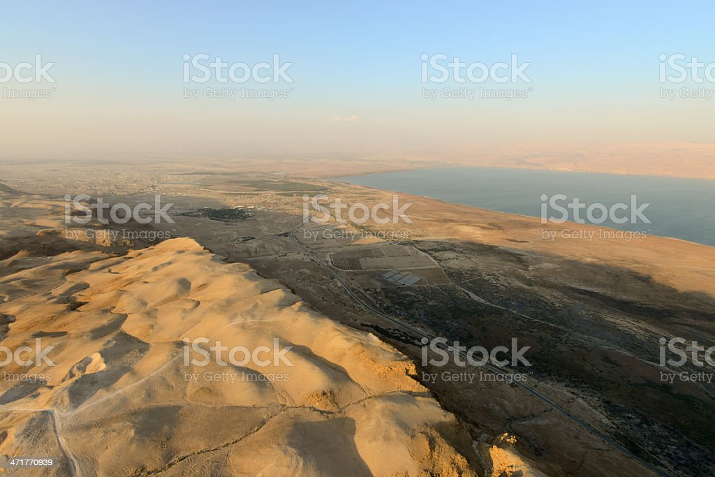 Aerial view desert stock photo