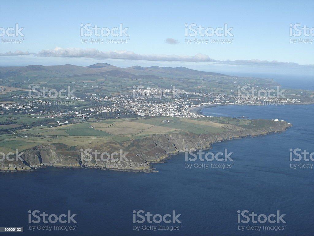 Aerial view Douglas, Isle of Man stock photo