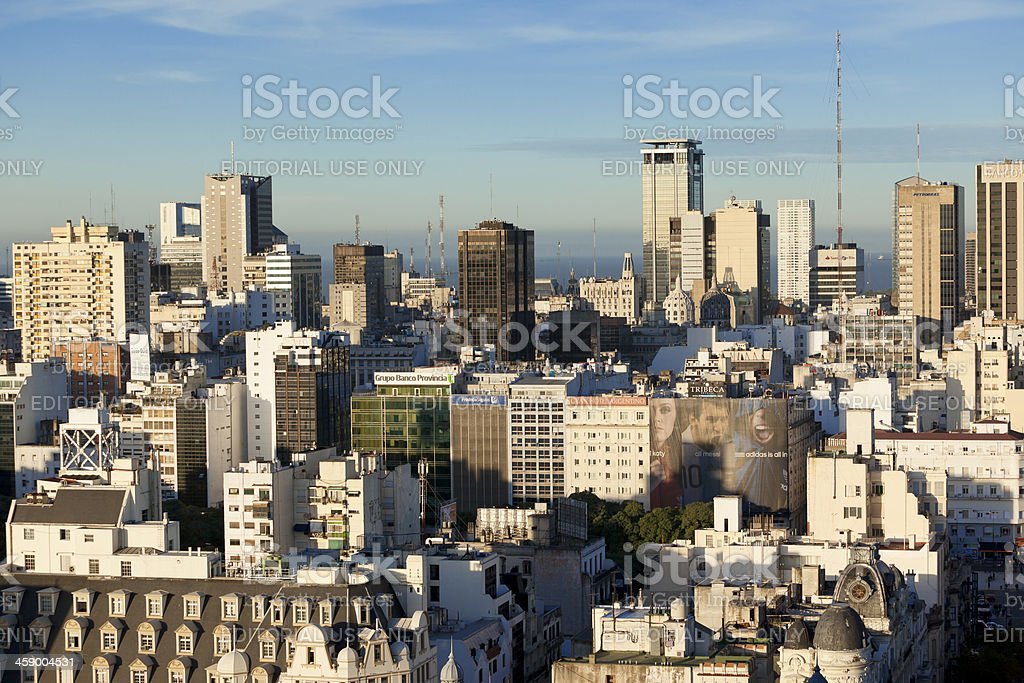 Aerial View Downtown Buenos Aires Argentina royalty-free stock photo