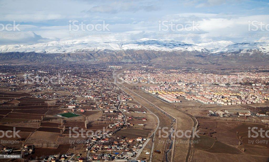 Aerial View Erzincan City stock photo
