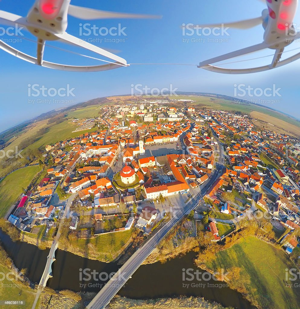 Aerial view from drone. stock photo