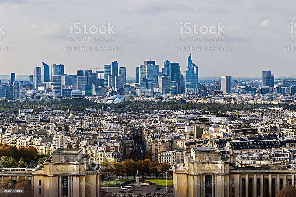 Aerial view from Eiffel tower stock photo