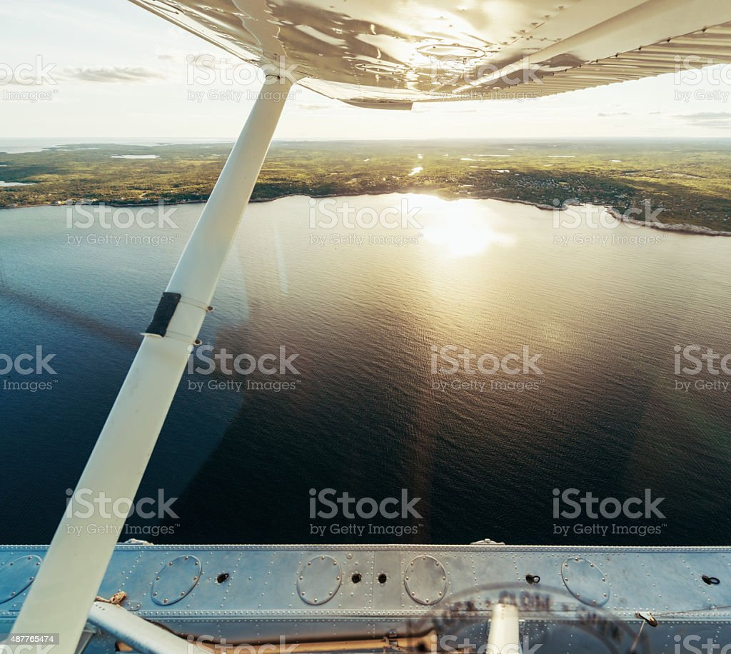 Aerial View from Float Plane stock photo