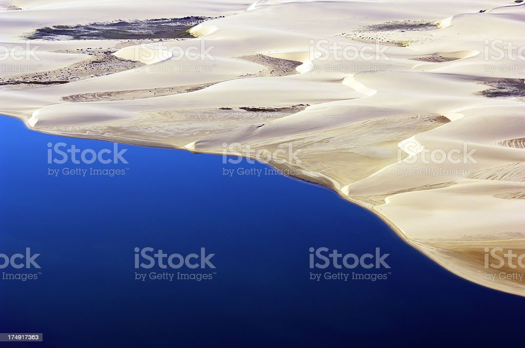 Aerial view from Skeleton Coast stock photo
