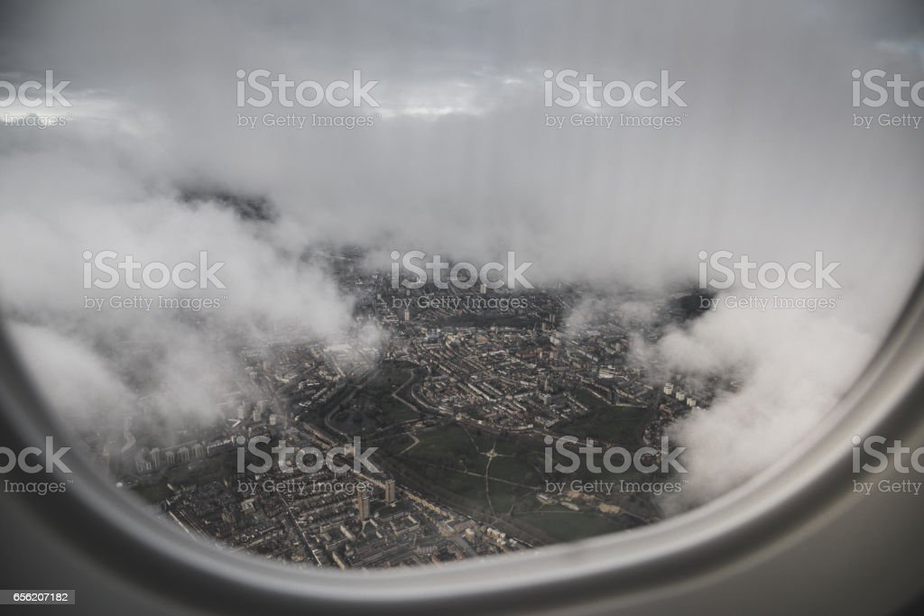 aerial view from the porthole stock photo