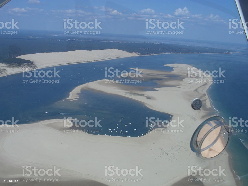 Aerial View from the pyla dune stock photo