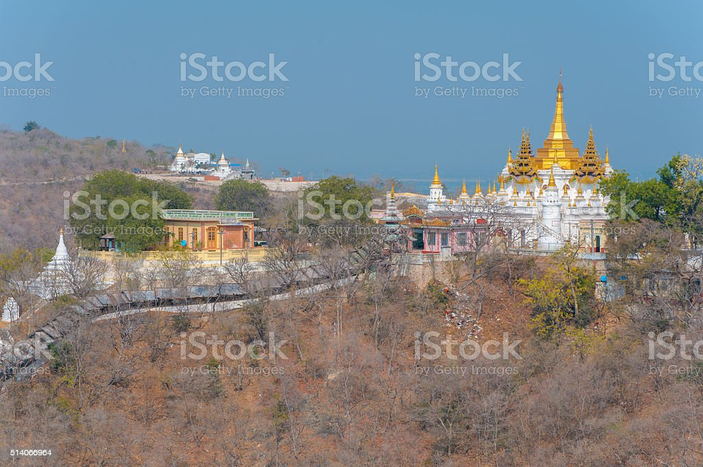 aerial view from the sagaing hill stock photo
