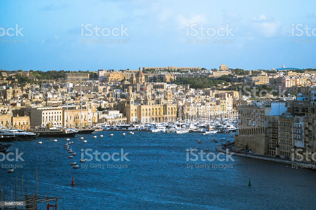 Aerial View From Valletta stock photo