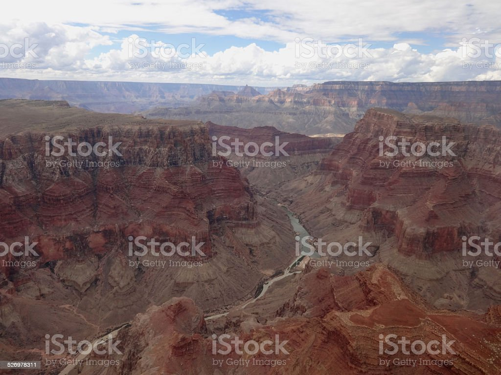 Aerial view grand canyon royalty-free stock photo