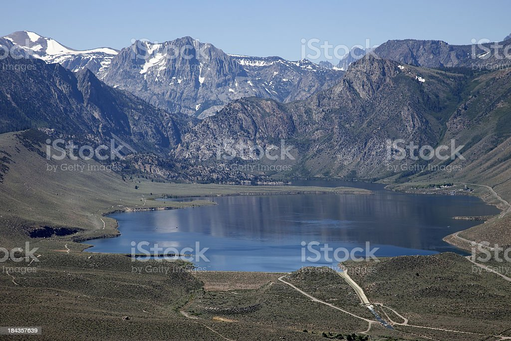 Aerial View, Grant Lake stock photo
