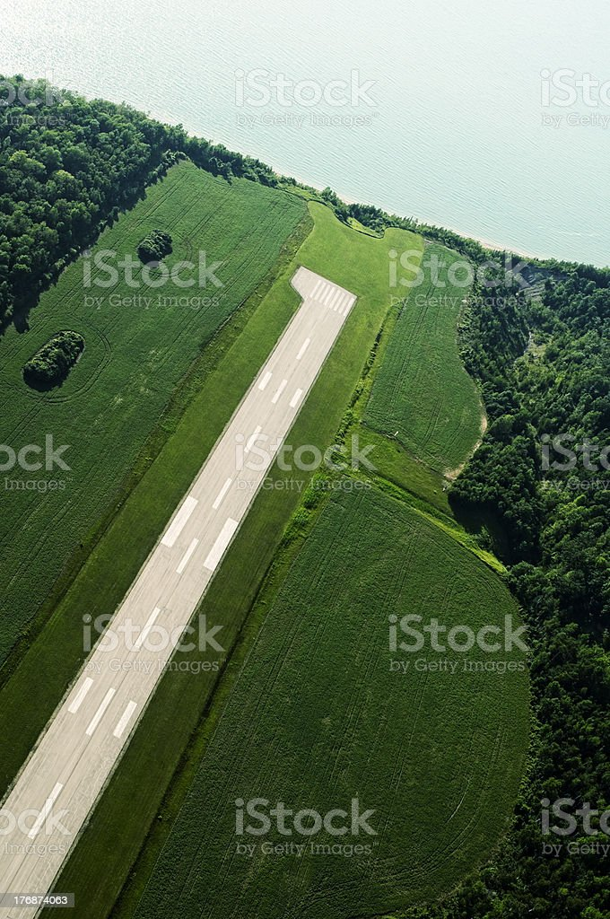 Aerial View, Great Lakes, Lakeshore stock photo