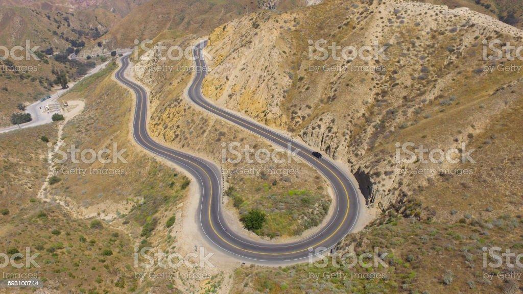 Aerial view Grimes Canyon California stock photo