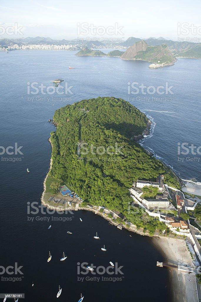 aerial view Guanabara Bay royalty-free stock photo